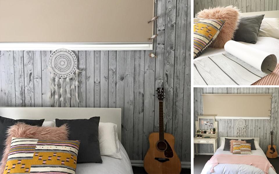 Wallpaper Brings New Life To Geelong Bedroom Makeover Indie Lime - Bedroom furniture geelong