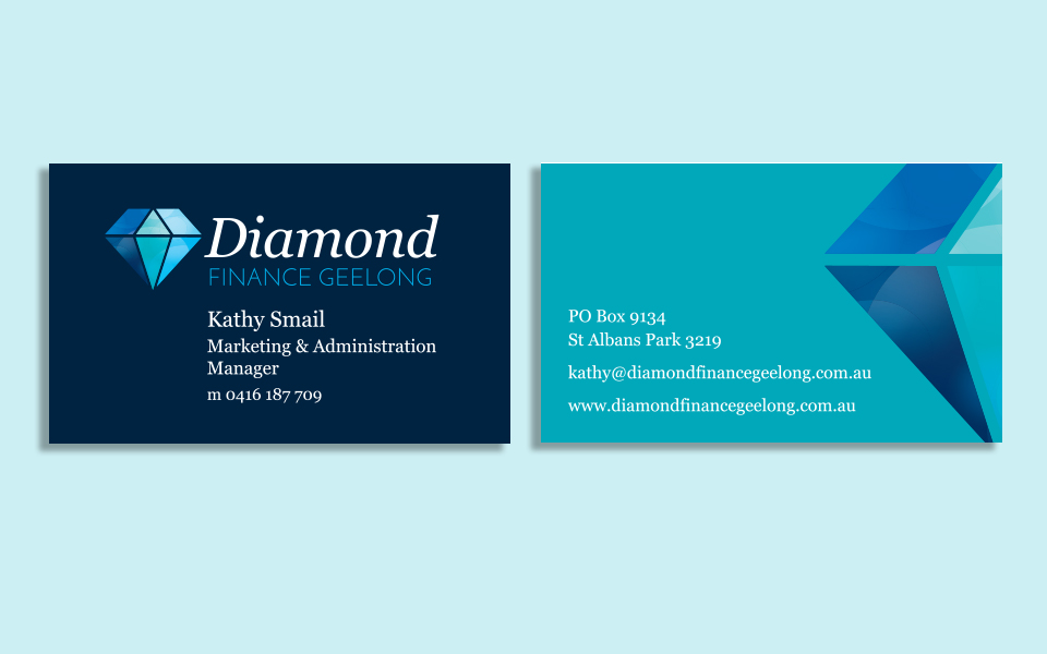 Print design geelong indie lime diamond finance geelong business cards reheart Image collections