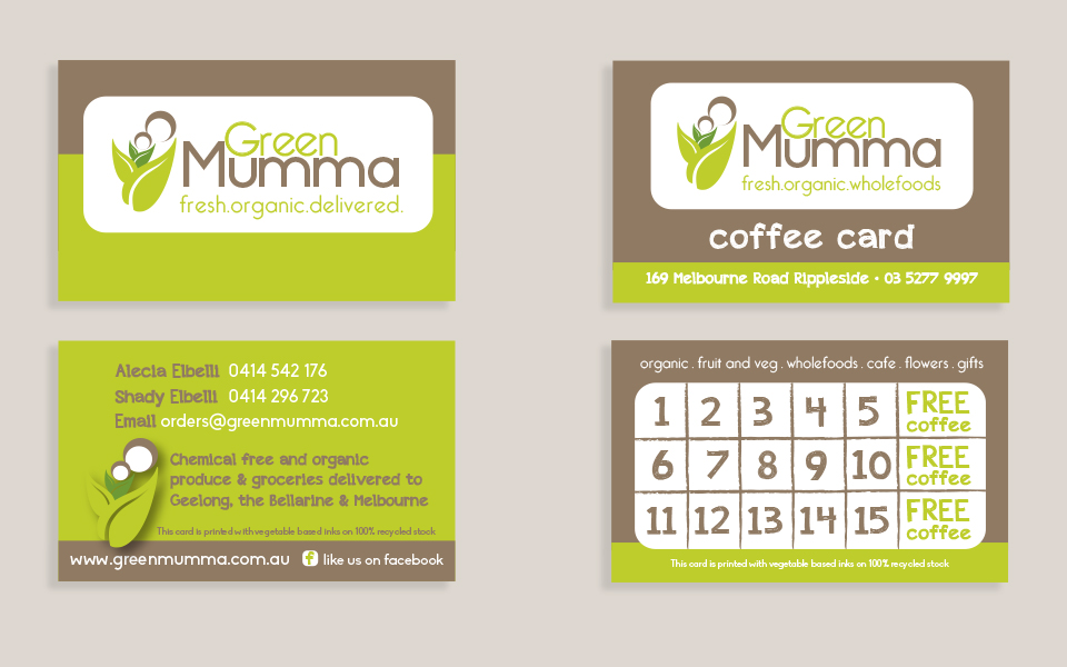 Green mumma indie lime green mumma business and coffee cards reheart Images
